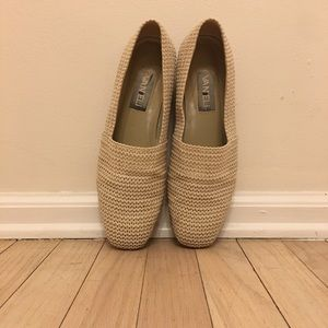 Vaneli |  Gorgeous Cream Crochet Loafers